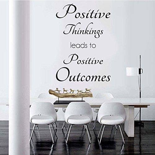 zxddzl Positive Gedanken Wandaufkleber Inspirierend Zitat Englisch Kunst Wandtattoo Büro Wohnkultur Zimmer Removablecm 103x72cm