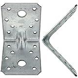 25 Winkelverbinder 70x70x55 , Dicke 2,5 mm, verzinkt, mit Steg / Rippe