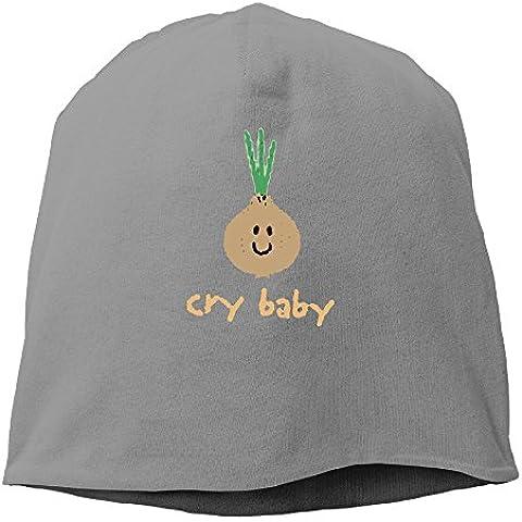 Cry Baby Onion Organic Beanie Knit Hat Toboggan