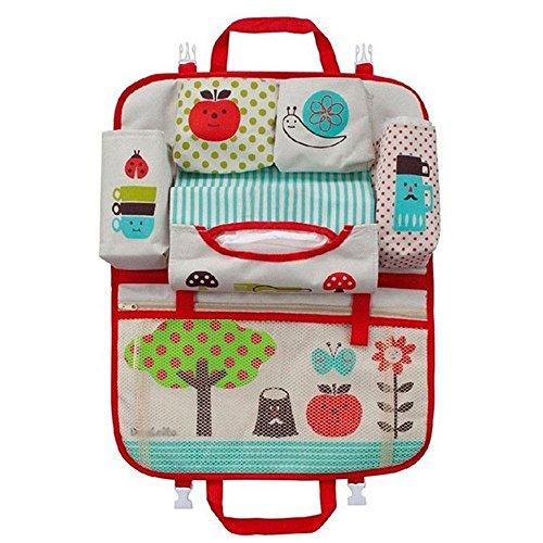 KOBWA Bambini Auto Tasca Sedile Organizzatore Protettori per sedile Multitasche Auto Organizer per da passeggino da viaggio neonati e bambini