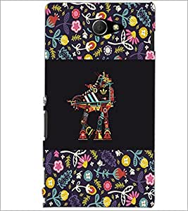 PrintDhaba Abstract Design D-5713 Back Case Cover for SONY XPERIA M2 (Multi-Coloured)