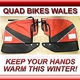 Guanti muffole per manubrio quad/bici, rosso