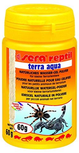 sera 02829 reptil terra aqua 100 ml ein natürliches Wasser-Gel zur Wasserversorgung kleiner Terrarientiere und Futterinsekten - das Gel besteht zu 100 % aus Meeresalgen und enthält kein Polyacrylamid - Aqua, Natürliche Pulver