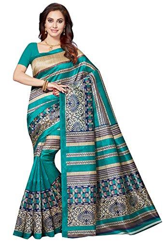 Ishin Bhagalpuri Art Silk Blue Party Wear Wedding Wear casual Daily Wear Festive Wear Bollywood New Collection Printed Latest Design Trendy Women\'s Saree