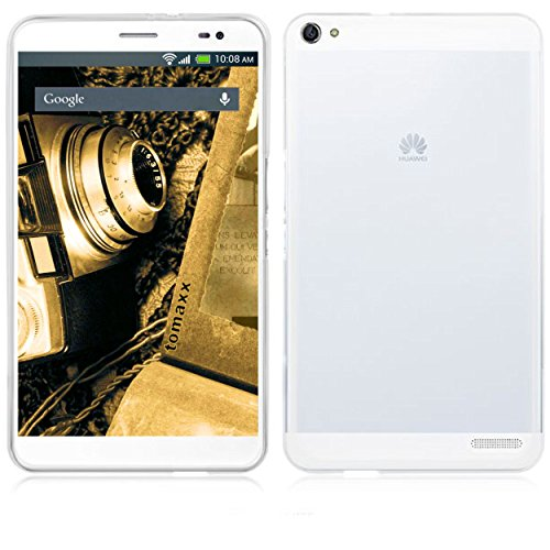 tomaxx Hülle für Huawei Mediapad X2 Tablet-PC Schutzhülle Tasche transparent Weiss