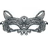 Zoelibat - Venezianische Stoffmaske (Mod. 54) Spitzen Maske zum Umbinden - Einheitsgröße Erwachsene - schwarz