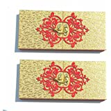 Parvenu Shagun Golden Cash Box or Gift Box.Pack of 2 Boxes.