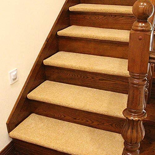 Tappeti di per scala Battistrada per di Scale in Legno Massello Step Pad Tappeti Autoadesivi Antiscivolo per Moquette Dimensioni Opzionali (Coloreee   Pack of 1, Dimensioni   75×24×3cm) 8d6242