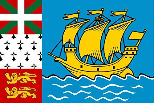 magFlags Drapeau XL+ Saint-Pierre-et-Miquelon | Drapeau Paysage | 2.4m² | 120x200cm