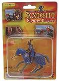 Plastik reitender Ritter auf Pferd mit Pikenier - Design 2