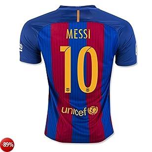 Maglia squadra di calcio, motivo: 10Lionel Messi, in rosso per la nuova stagione 2016-2017, Uomo, Red, M