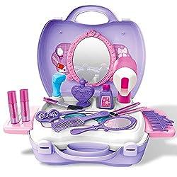E T Spielzeug-Set 21 Stücke Kinder Schminkset Kinderschminke Koffer Schönheit Spielzeug Kosmetik Set Mädchen Kinder Rollenspiel Spielzeug Geschenk ab 2 3 Jahre