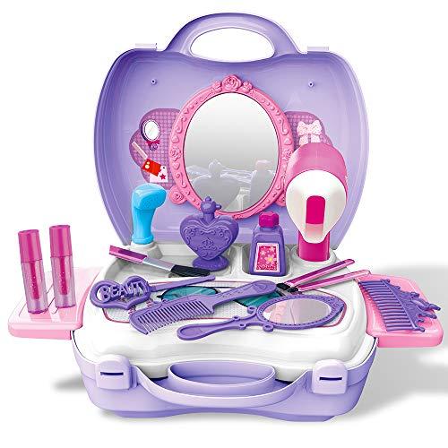 E T Kit di Bellezza Playset 21 Pezzi Trucco Set Trucchi Bambina Giochi Regalo per Bambini 2 3 4 5 6 Anni