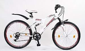26 Zoll Kinderfahrrad Mountainbike Kinder Fahrrad Rad Bike Jugendfahrrad viper ROTWEISS