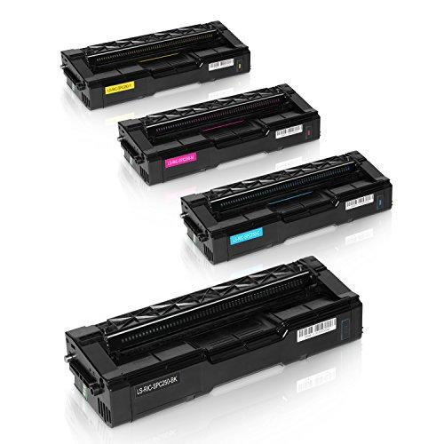 Preisvergleich Produktbild 4 Toner für Ricoh SPC250DN SPC250SF SPC250E - 407543 407544 407545 407546 - Schwarz 2000 Seiten, Color je 1600 Seiten
