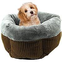 TRULIL Haustierkissen für den Winter, Plüsch, warm, Nest, Hundehütte, Hundehütte, Wellen-Muster, Katzenstreu, Pentagonal, rundes Nest, schöne warme und Bequeme Hundematte