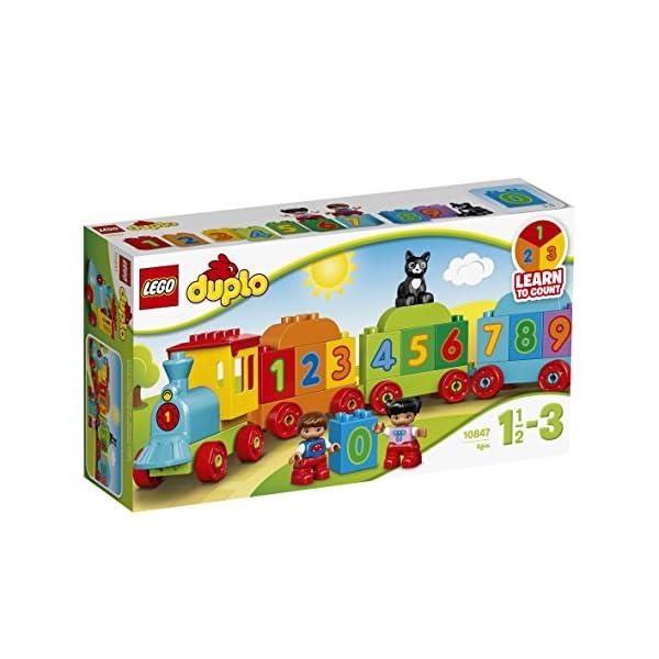 LEGO Duplo My First il Treno dei Numeri, per Iniziare a Contare Divertendosi con Questo Colorato Treno ed il Simpatico… 2 spesavip