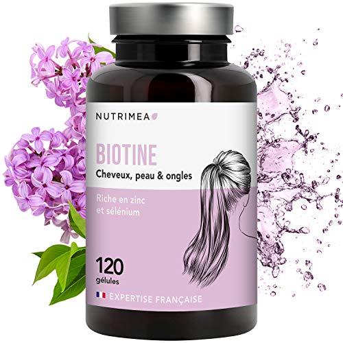 NUTRIMEA • BIOTINE Cheveux & ongles • Complément alimentaire cheveux optimisé par synergie Zinc & Selenium • Accélérateur de pousse rapide de cheveux, ongles forts, peau parfaite éclata