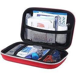 Shuxinmd Kit Primeros Auxilios Completo Ligero Lleno con Seguridad Emergencia Suministros para el Coche Lugar de Trabajo Hogar Viaje Sports Acampada o Oficina