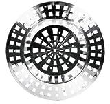De-Plastik 5844 441 Abflußsieb/Ø 70 mm/chrom/5er Set