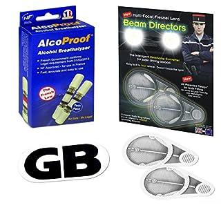 Scheinwerfer Beam Fresnel Adapter + 2French Twin + Alkoholtester magnetisch B/weiß GB Teller