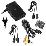 S-Video-Kabel + Scartadapter + Netzteil + 2x Verlängerungskabel für Nintendo 64