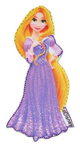 Bügelbild - Rapunzel neu verföhnt - 4,8 cm * 10 cm - Disney Prinzessin / Princess - Aufnäher gewebter Flicken / Applikation - Prinzessinnen ()