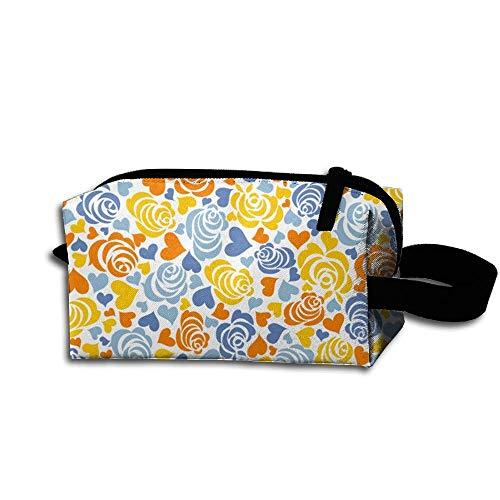 Travel Makeup Love Rose Beautiful Waterproof Cosmetic Bag Quick Makeup Bag Pencil Case -