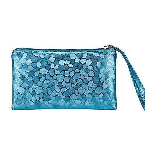 Mefly Telefono Cellulare Borsa Nuova Lady Telefono Mobile Bag Viola blue
