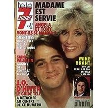 Télé 7 Jours n° 1654 du 8 février 1992 - Madame est servie, les Jeux Olympiques d'Albertville, Mike Brant en Israël
