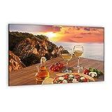 decorwelt - Coprifornelli in Vetro di Sicurezza per Piani Cottura a induzione, Colore: Beige, Vetro, 80 x 52 cm