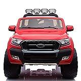 Cristom 4x4 électrique 24Volts 10Ah Ford Ranger WILDTRAK, télécommande 2.4ghz , Pneu reelle , 2 Places ,Prise USB/Radio FM/MP3 , clé reelle , Licence Ford (Rouge)