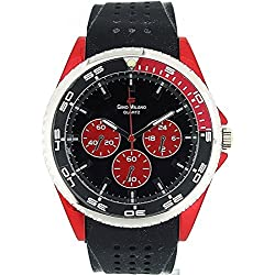 Gino Milano Red & Black Rotating Bezel Men's Sports Watch DG10816RED