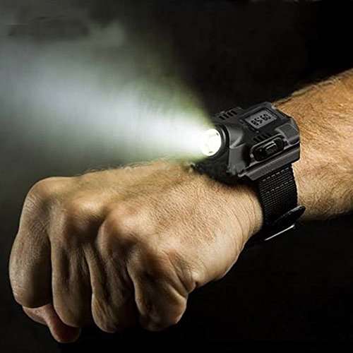 Orologio grh flash light orologio a led torcia a led orologio da polso lampade ricaricabili lanterna impermeabile da polso lampada da torcia lampada da esterno