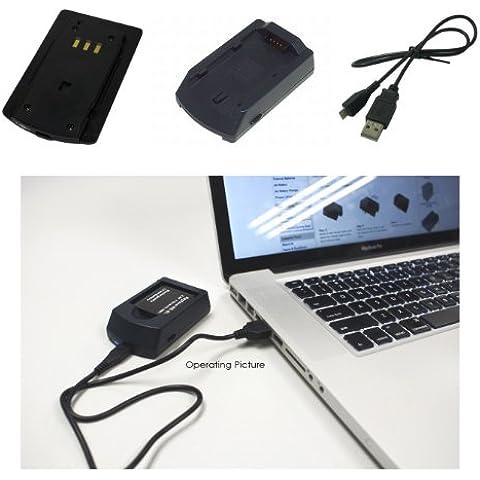 Power Smart® USB Cargador para Leica Digilux 1, DIGILUX 2, DIGILUX 3, BP-DC1, BP-DC3, BP-DC3E, BP BP-DC3J, BP BP-DC3U