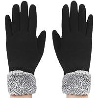 AfinderDE Touchscreen Handschuhe Damen Wärmer Fingerhandschuhe Winterhandschuhe Arbeitshandschuhe Skihandschuh Warm Strick Plüsch Gloves Handschuhe