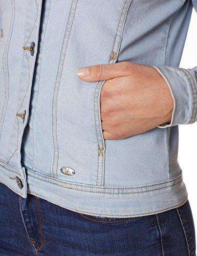 Berydale Damen Jeansjacke mit modischer Waschung, Hellblau, Gr. 34 - 6