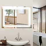 Wefun Badspiegel mit Beleuchtung,Badezimmerspiegel mit Beleuchtung,badezimmerspiegel LED Touch (600mm*800mm) Deutschland Lager