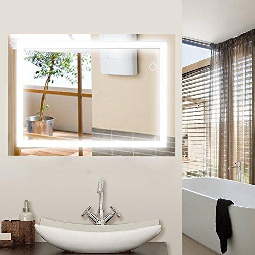 Wefun Badspiegel mit Beleuchtung,Badezimmerspiegel mit Beleuchtung,badezimmerspiegel LED