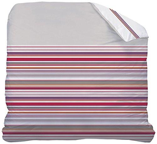 Matt & Rose Nuit Graphique Housse de Couette Coton Taupe/Blanc 240 X 220 cm