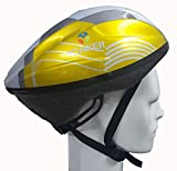 #5: YONKER Cycling Helmet ELITE with Adjuster SENIOR SIZE , YS-1411 (Yellow/Grey)