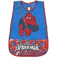 PERLETTI Delantal Infantil Marvel Spiderman - Bata Escolar Impermeable para Niño con Bolsillo Delantero con el