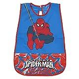 Tablier Spiderman pour Enfant - Blouse Spider Man Impermeable PVC avec Poche Avant - Adapté pour protéger des taches et peinture - 3/5 Ans - Bleu - Perletti