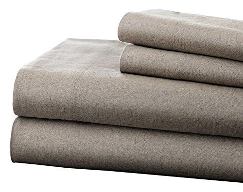 81a7edf0dc Pacific Coast Textiles Leinen & Baumwolle-Bettlaken-Set C. King, Platin,