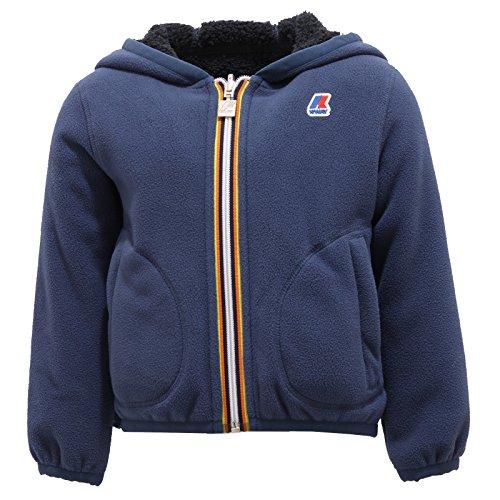 5293R giubbotto K-WAY JAQUES FUR BONDEN DOUBLE felpa orsetto blu jacket kid [4 YEARS]