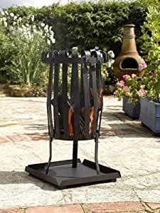 NARROW FIRE BASKET OUTDOOR HEATER AND INCINERATER