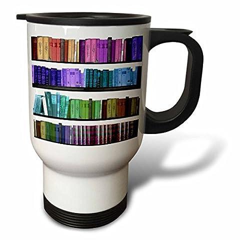 statuear Colorful Étagère 14-Ounce Tasse de voyage en acier inoxydable