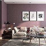 Papier Peint Moderne Epais,Pigment Pure Couleur Minimalisme Moderne Soie Longue Fibre Soie Non Tissée Salon Chambre Papier Peint Non Auto-Adhésif,53X1000Cm,Aubergine Mauve
