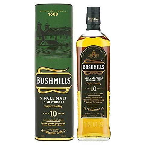 Bushmills Malt Single Malt whisky irlandais âgés de 10 ans 700ml (Pack de 6 x 70cl)
