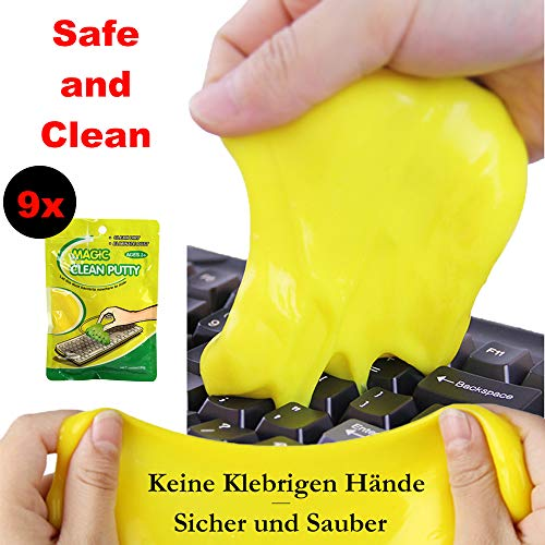 Price comparison product image TWIKIK 9-Piece Magic Keyboard Cleaner Sticky Gel Pad,  removes dust Safely with no residue keyboard cleaning paste Cleaning Putty